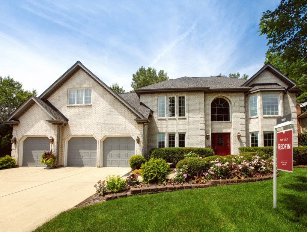 Large modern home with three car garage and well maintained yard that will have a high appraisal value